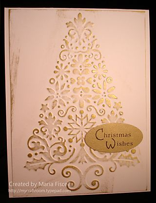 Embossed Gold Tree