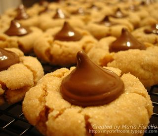 Peanut butter cookies closeup