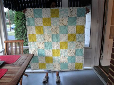 Quilt Nicole holding up